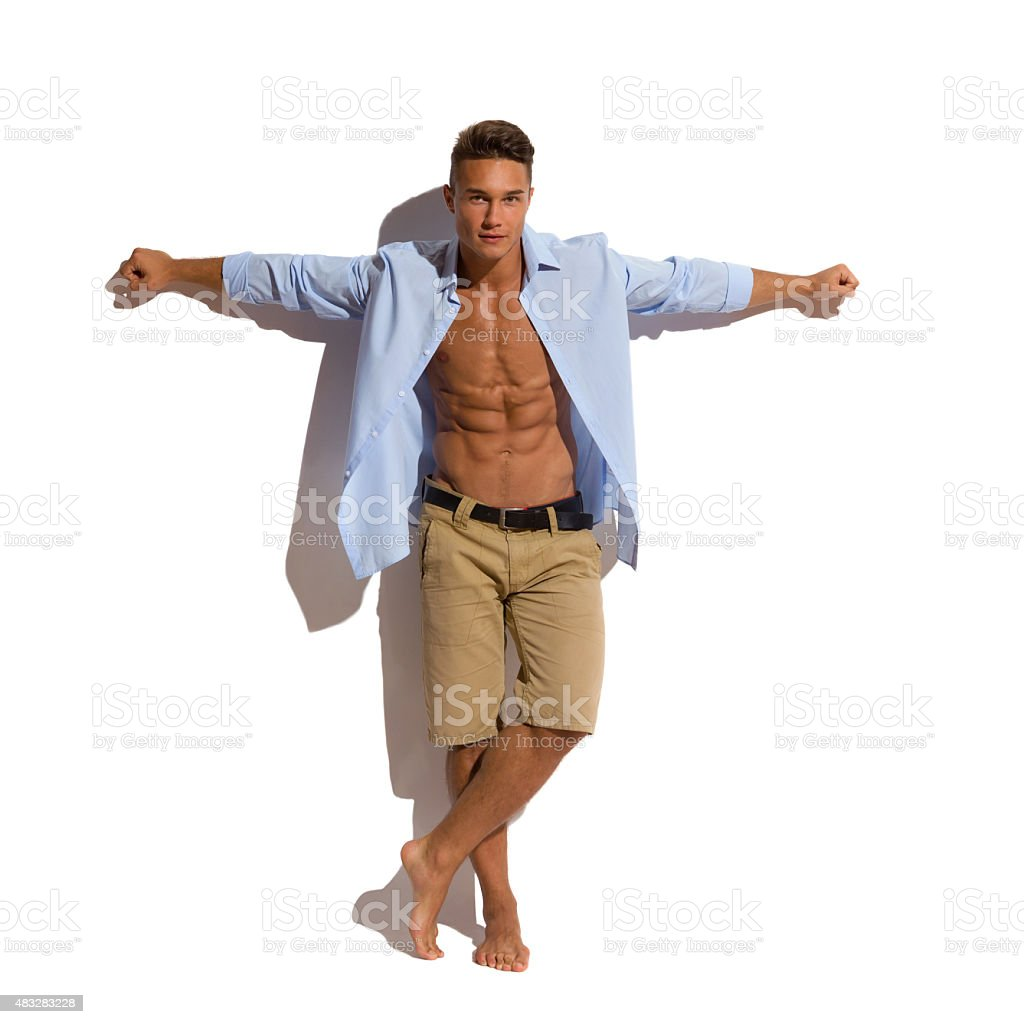Handsome Fit Man In Sunlight stock photo