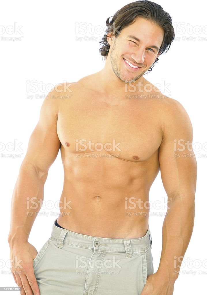 Handsome Fitness Male Caucasian royalty-free stock photo