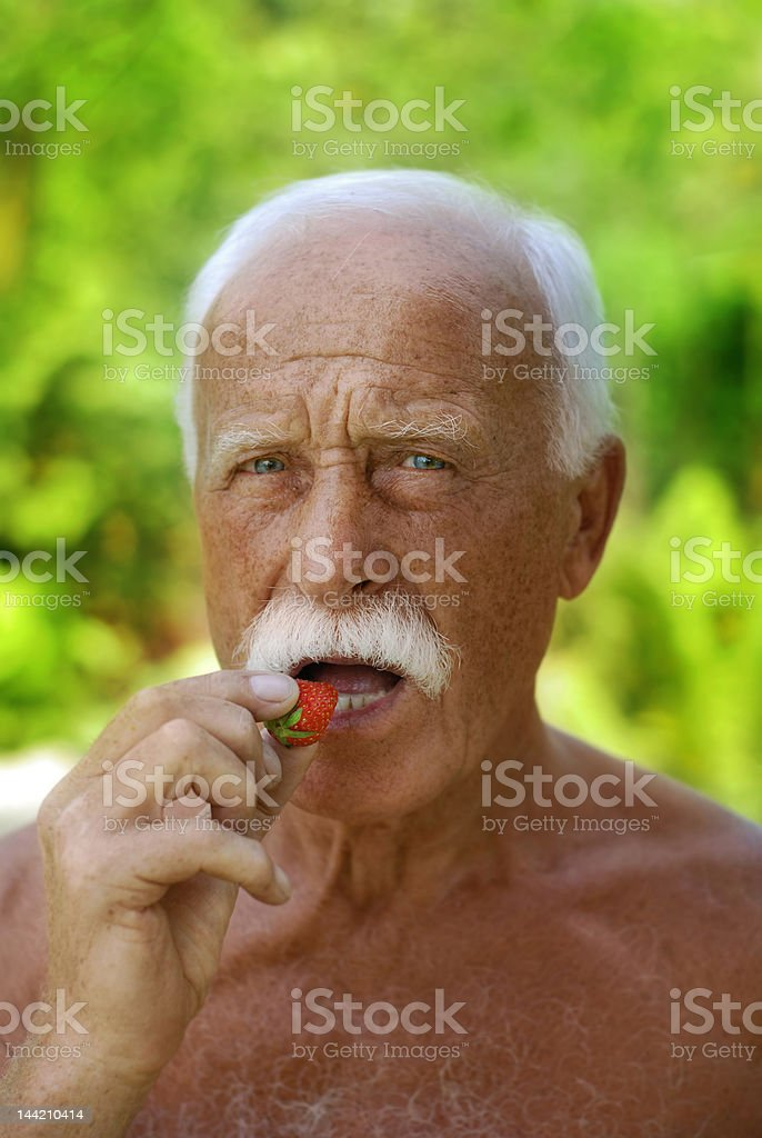 handsome grandfather stock photo