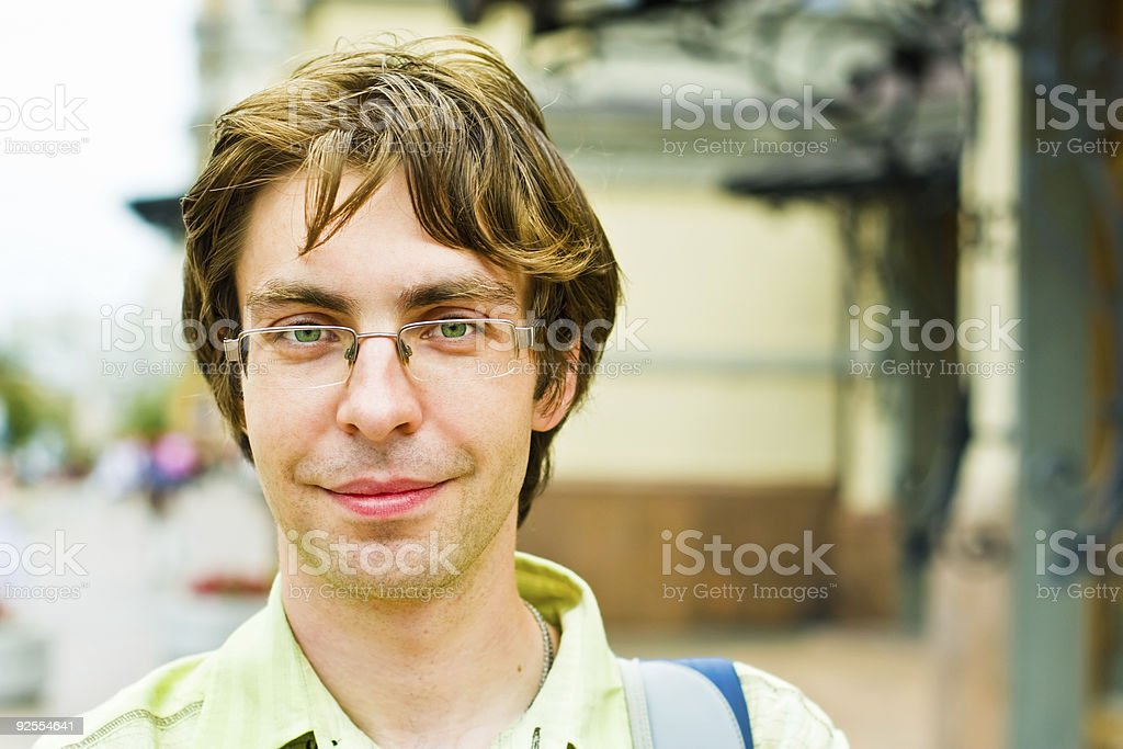 Handsome guy in the city royalty-free stock photo