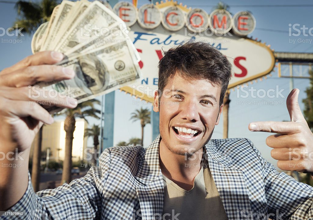 Handsome Guy in Vegas royalty-free stock photo