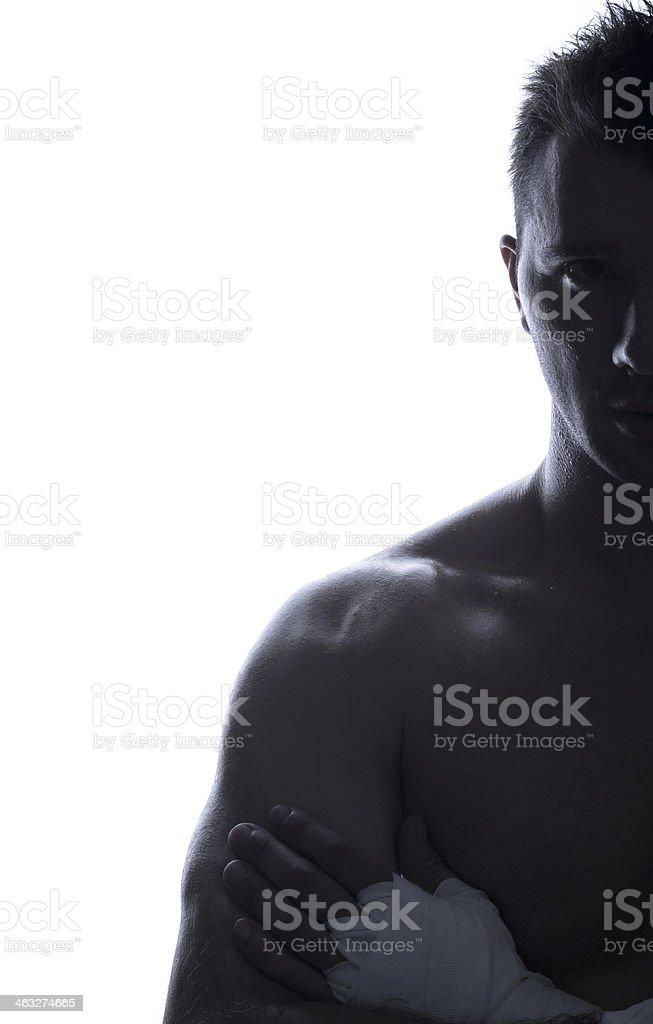 Handsome guy torso stock photo