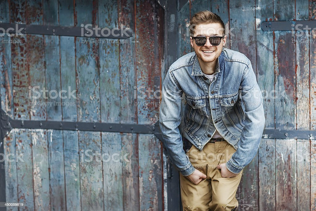 handsome guy with glasses royalty-free stock photo