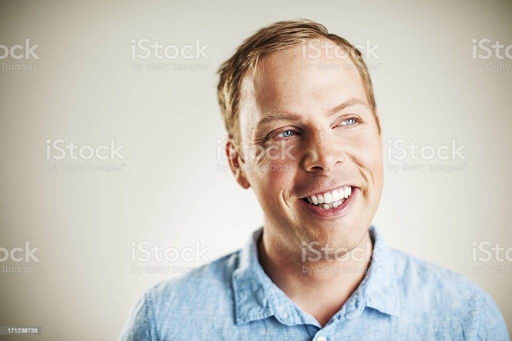 Handsome happy man royalty-free stock photo