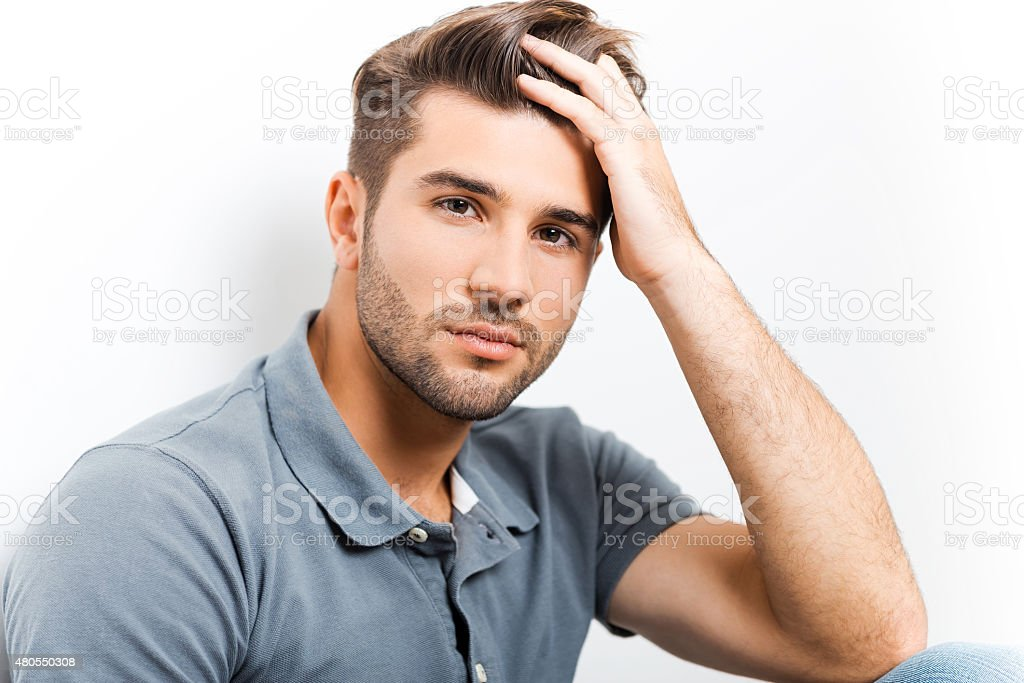 Handsome heartbreaker. stock photo