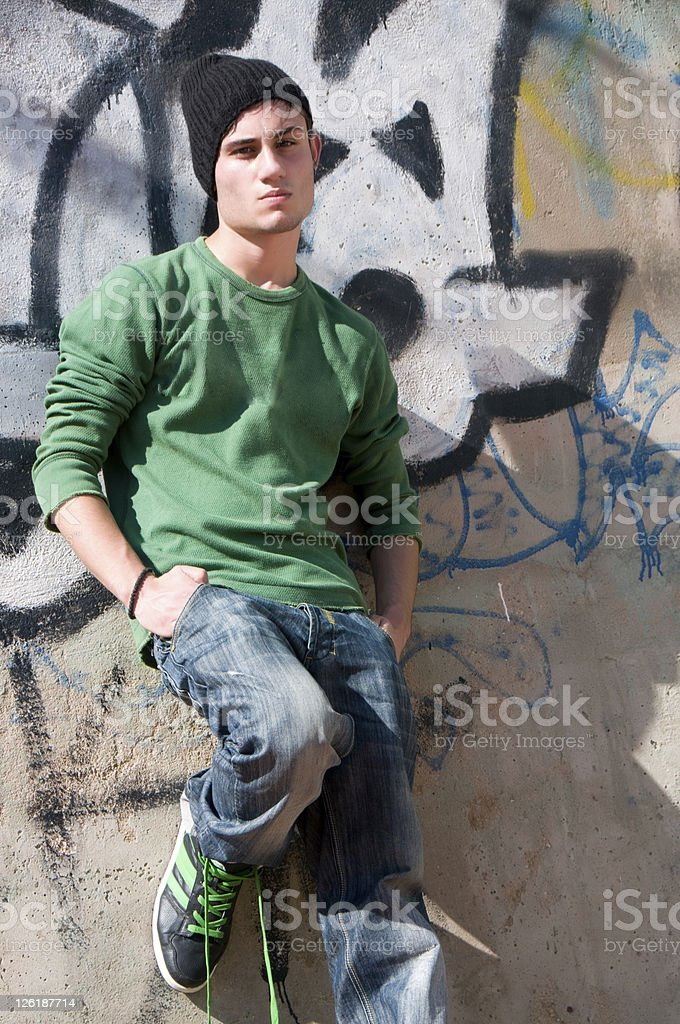 Handsome Hip Hop Man royalty-free stock photo