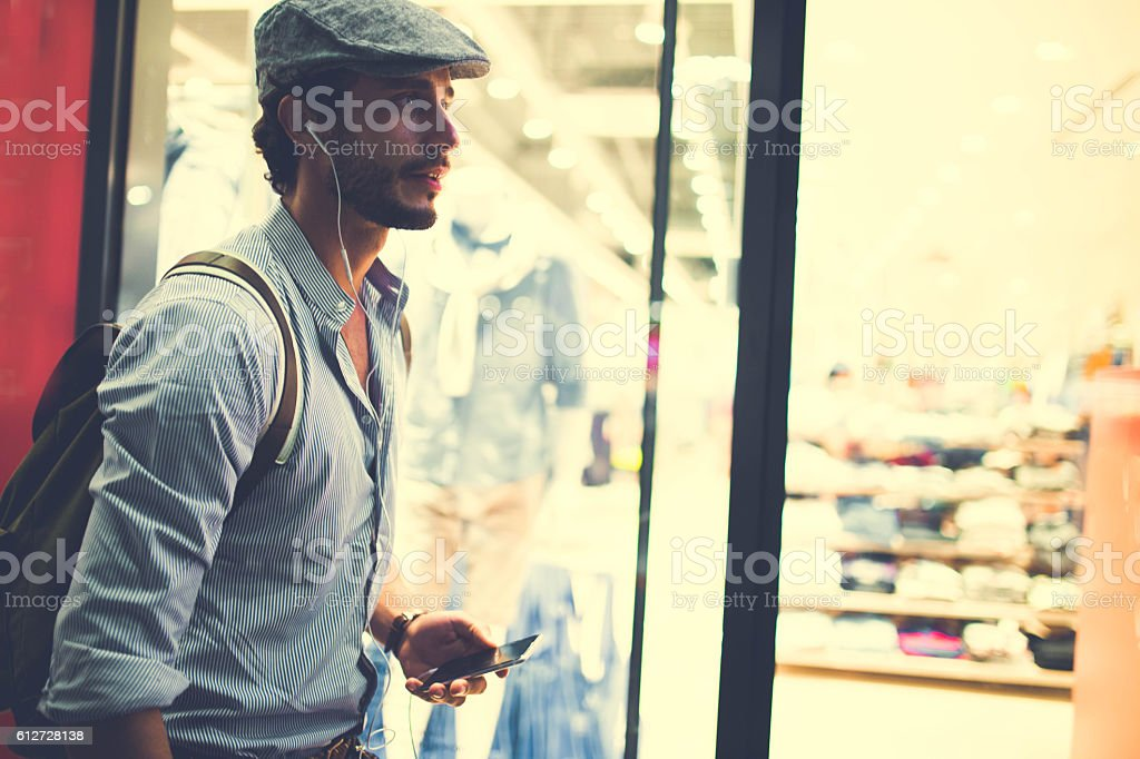 Handsome hipster stock photo