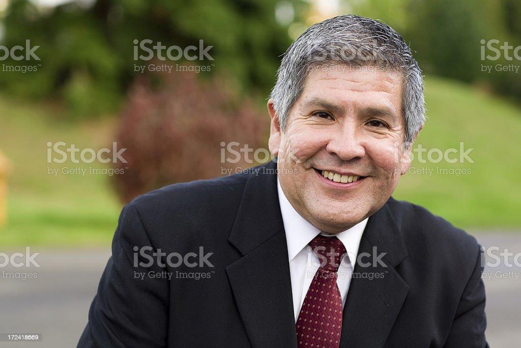 handsome hispanic man stock photo
