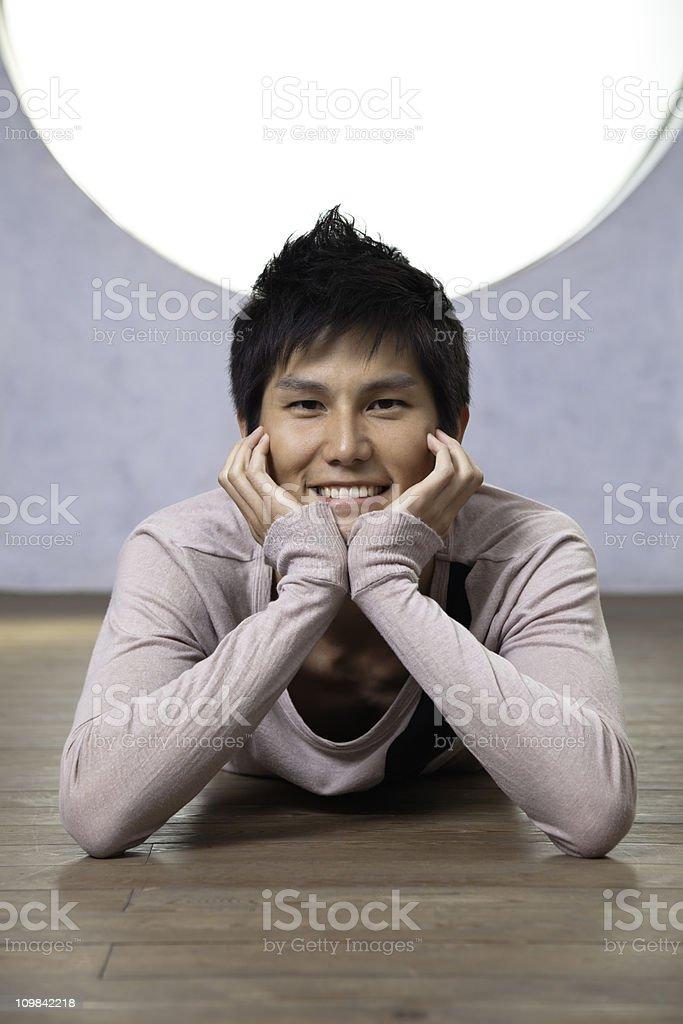 Handsome Japanese man stock photo