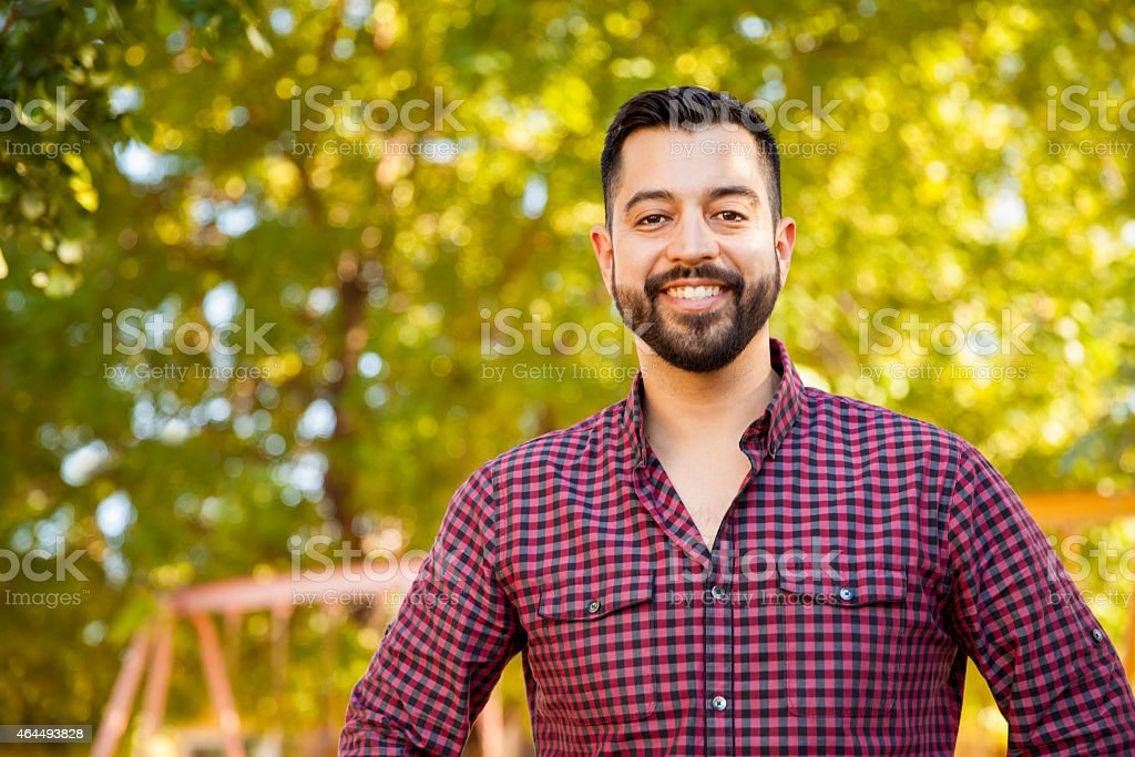 Handsome Latin young man stock photo