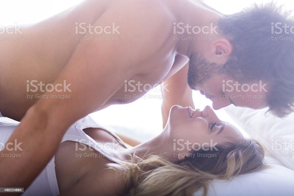Handsome male and his lover stock photo