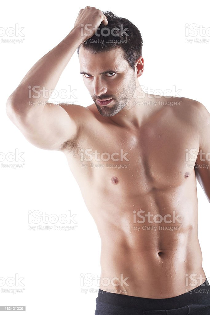 Handsome male in underwear royalty-free stock photo