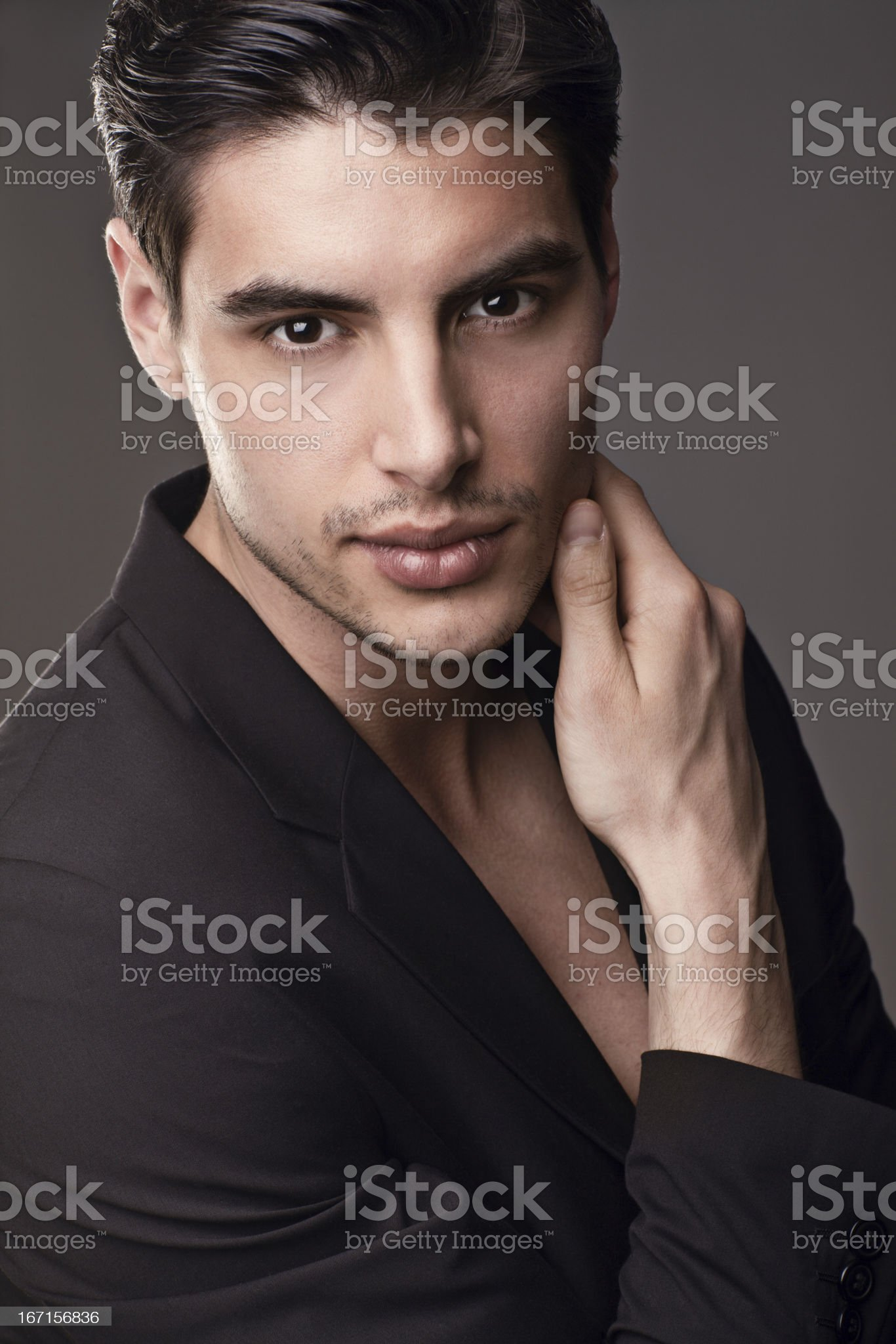 Handsome male model royalty-free stock photo