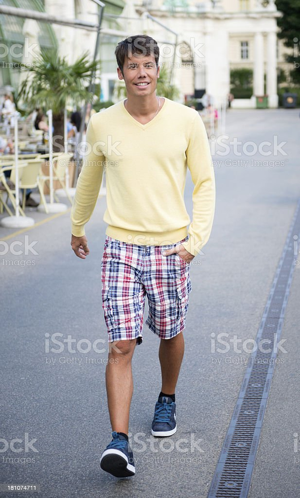 Handsome Male Model, Smart Casual Summer Fashion royalty-free stock photo