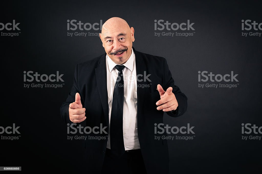 Handsome man doing different expressions in different sets of clothes: surprise stock photo