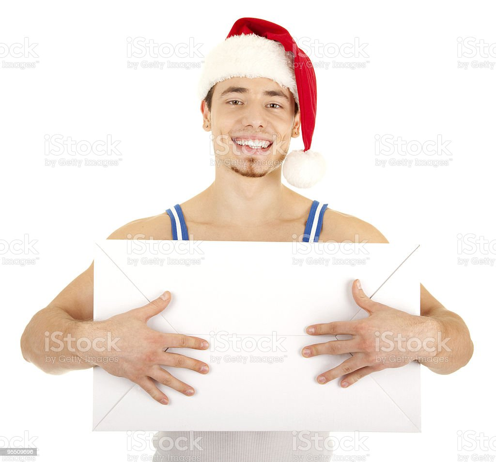 Handsome man has a present for you royalty-free stock photo