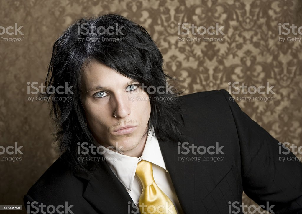 Handsome man in a business suit royalty-free stock photo