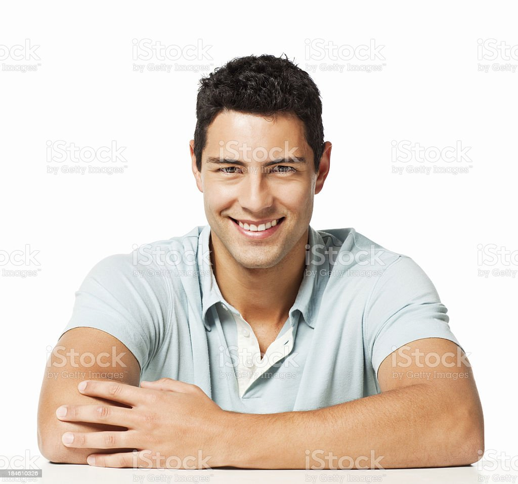 Handsome Man in a Polo Shirt - Isolated royalty-free stock photo