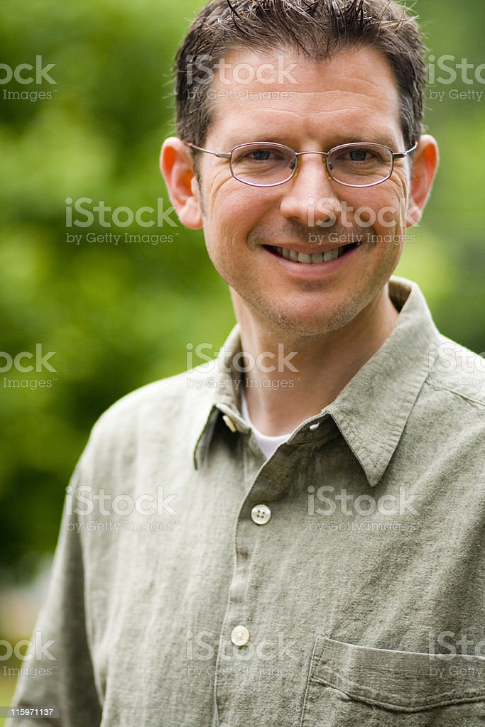 Handsome Man in Green royalty-free stock photo