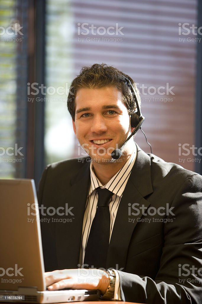 Handsome Man In His Office royalty-free stock photo