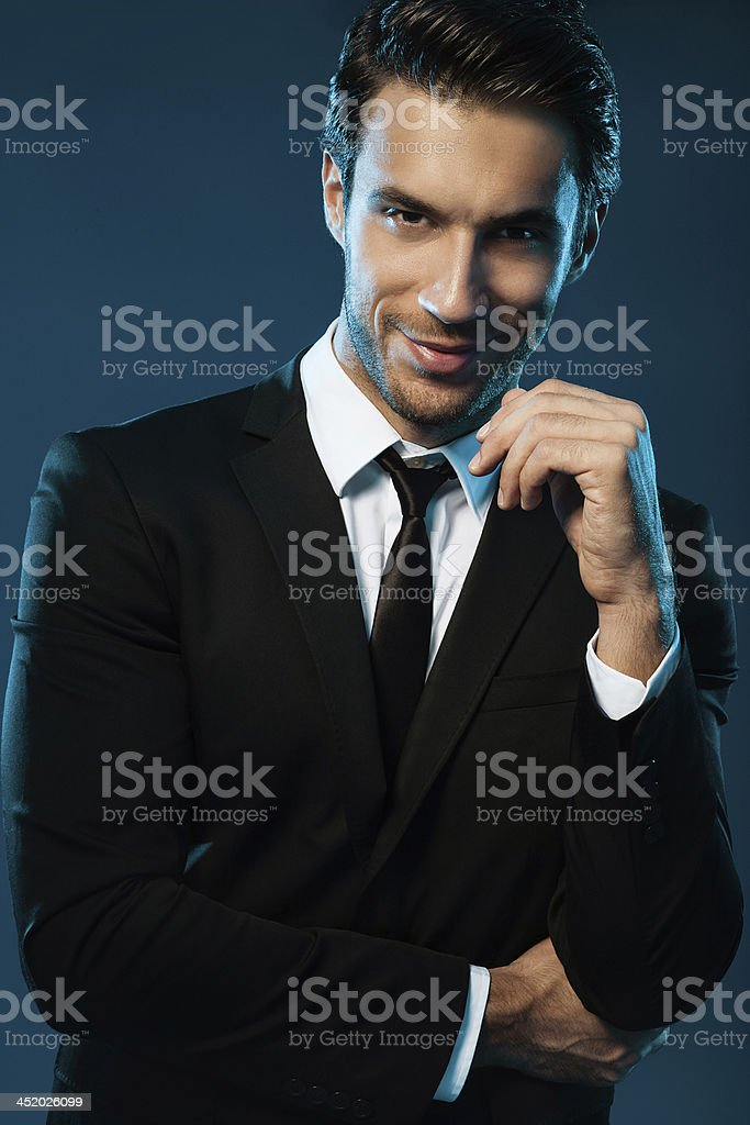 Handsome man in suit royalty-free stock photo