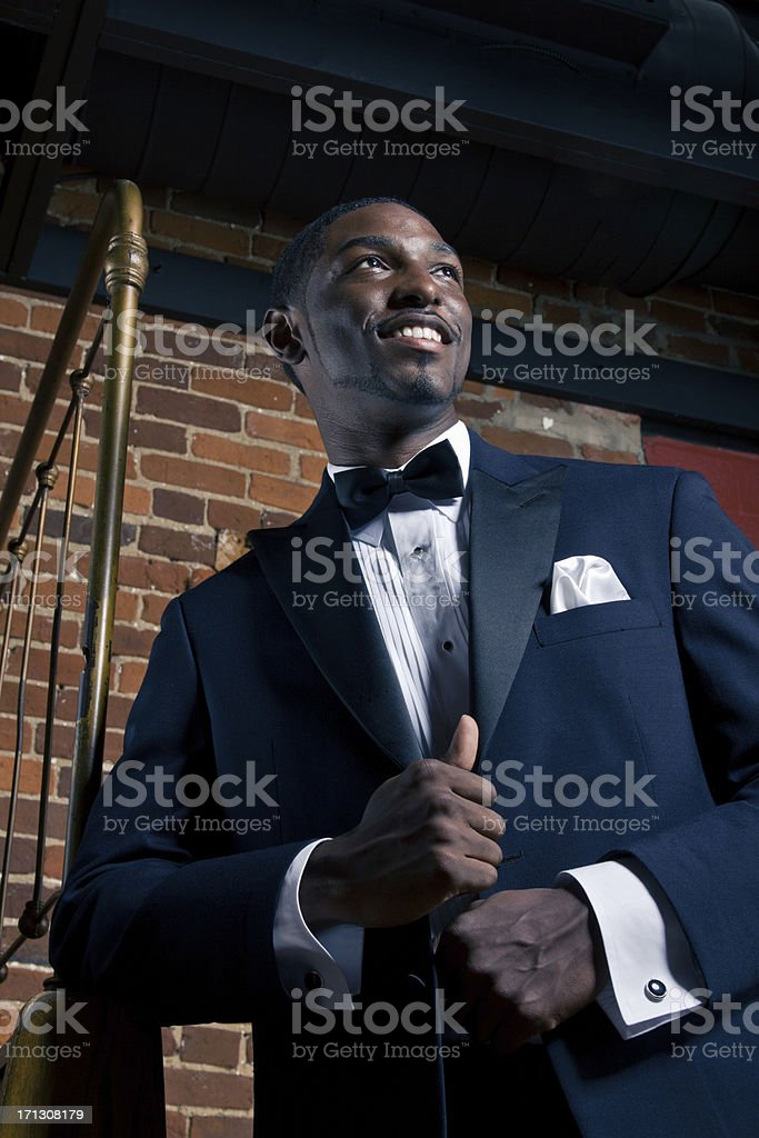 Handsome Man in Tux Smiling stock photo