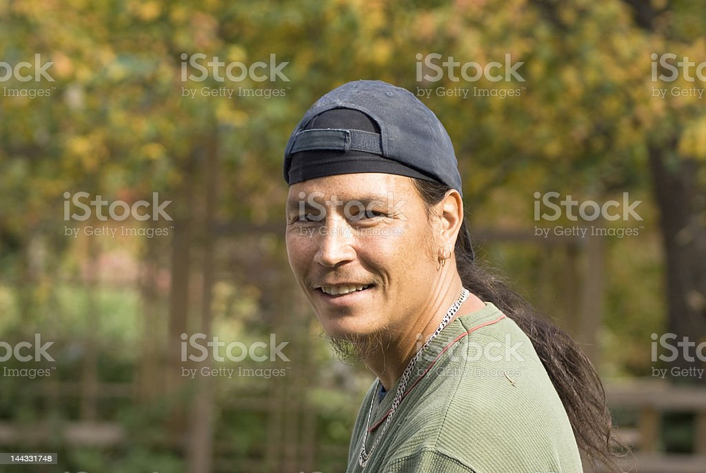 Handsome man of aboriginal heritage royalty-free stock photo