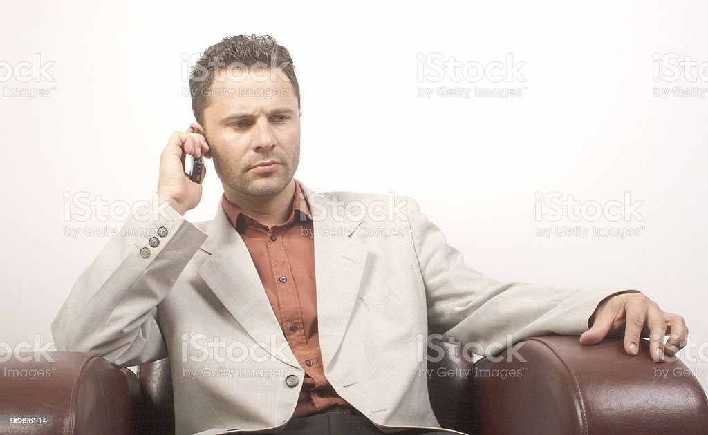 handsome man on th e phone royalty-free stock photo