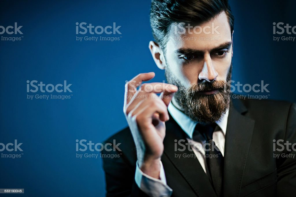 Handsome man stock photo