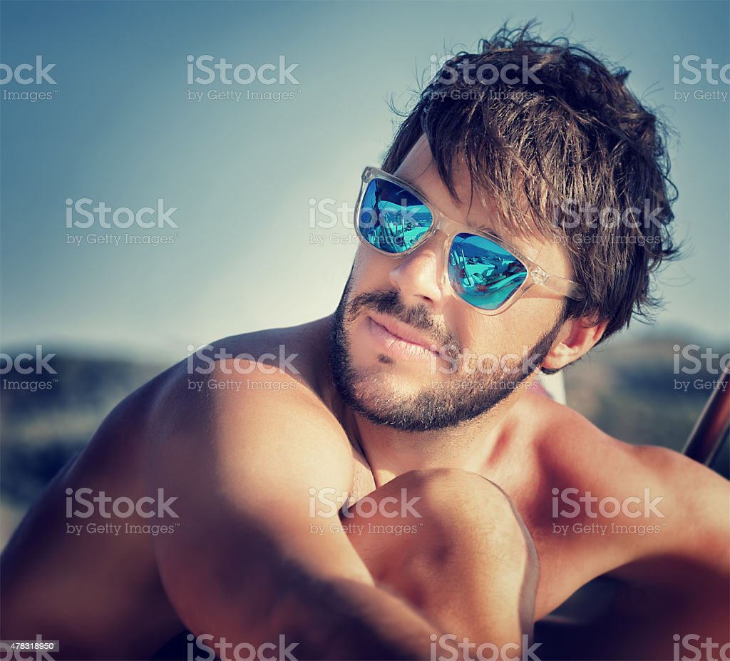 Handsome man portrait stock photo