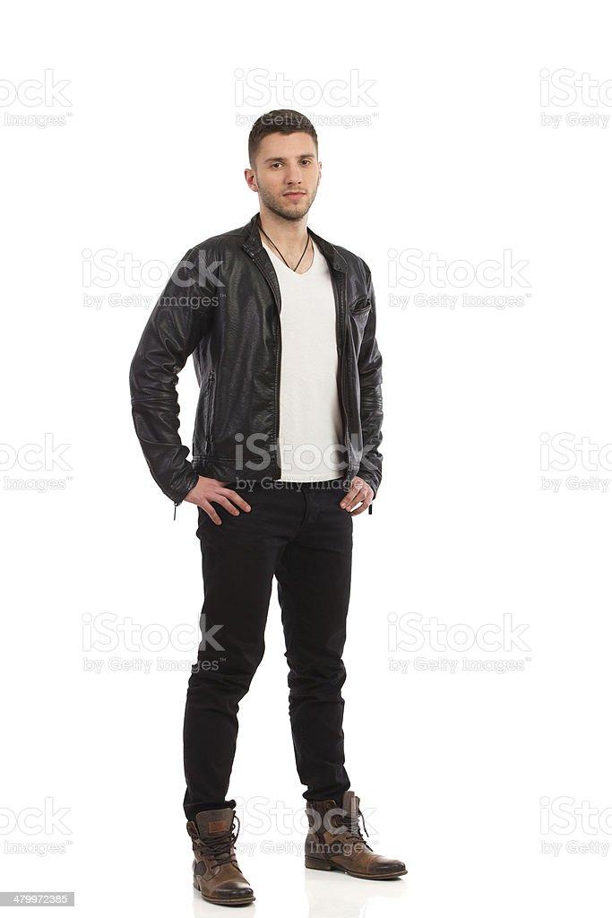 Handsome man posing stock photo