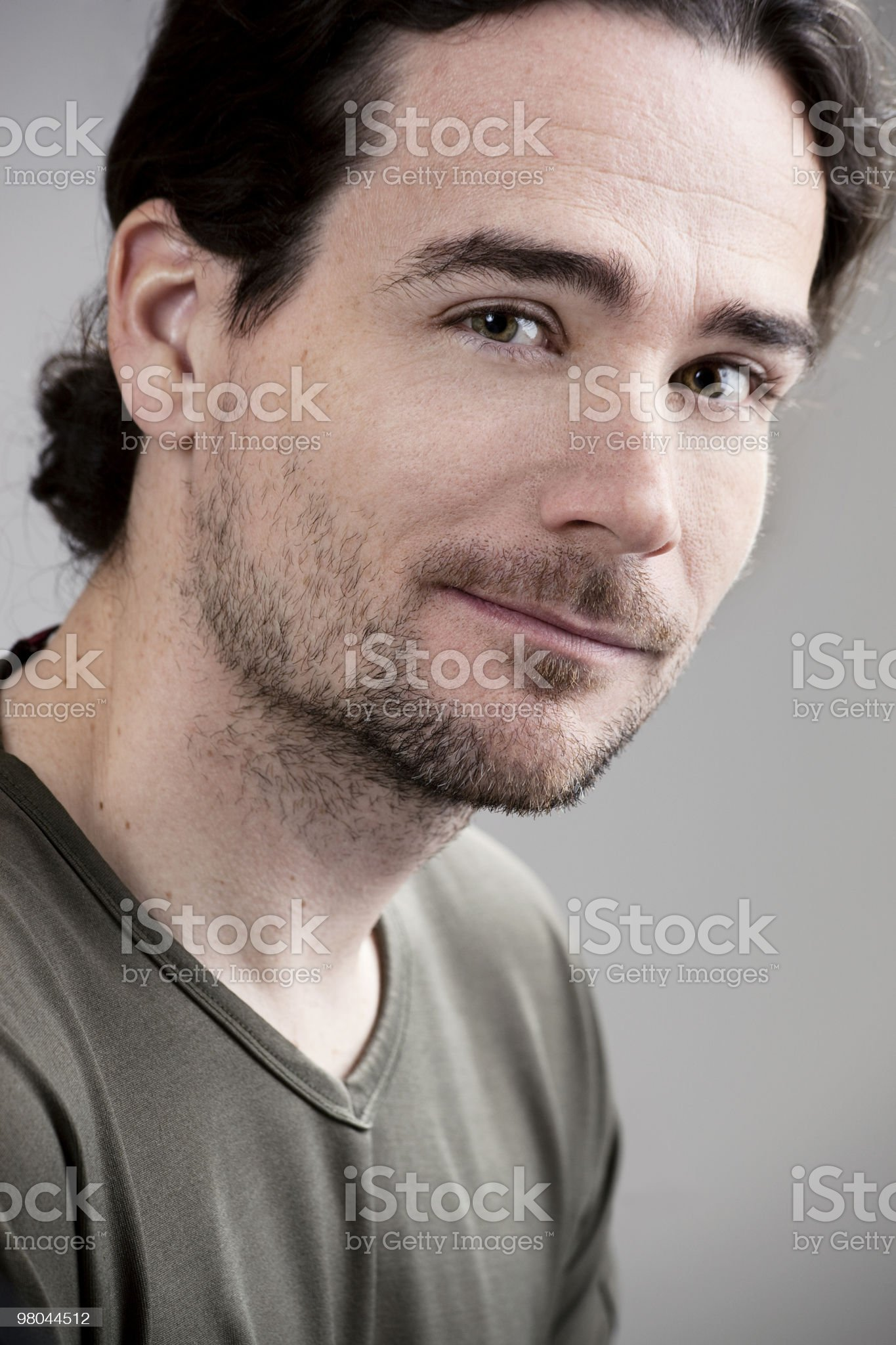 Handsome man smiling kindly royalty-free stock photo