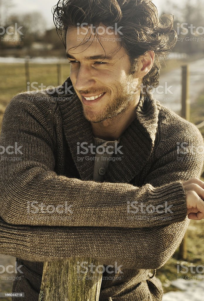 handsome man smiling stock photo