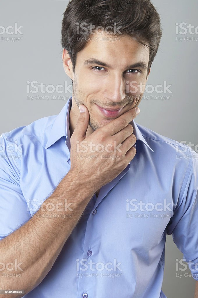 handsome man smiling royalty-free stock photo