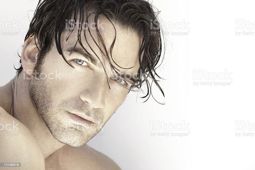 Handsome man up close stock photo