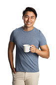 Handsome man with coffee cup