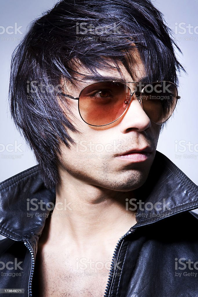 Handsome man with sunglasses royalty-free stock photo