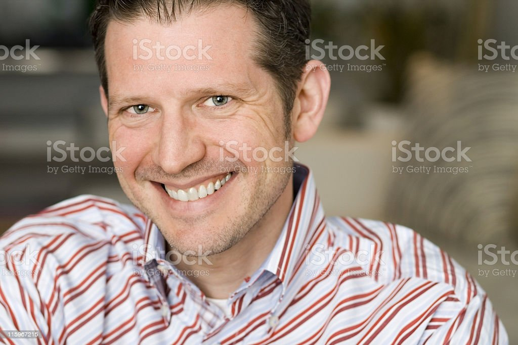 Handsome Mature Man in White royalty-free stock photo