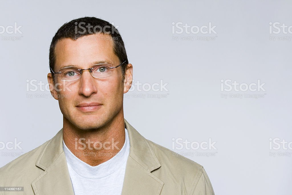 Handsome Mature Man stock photo
