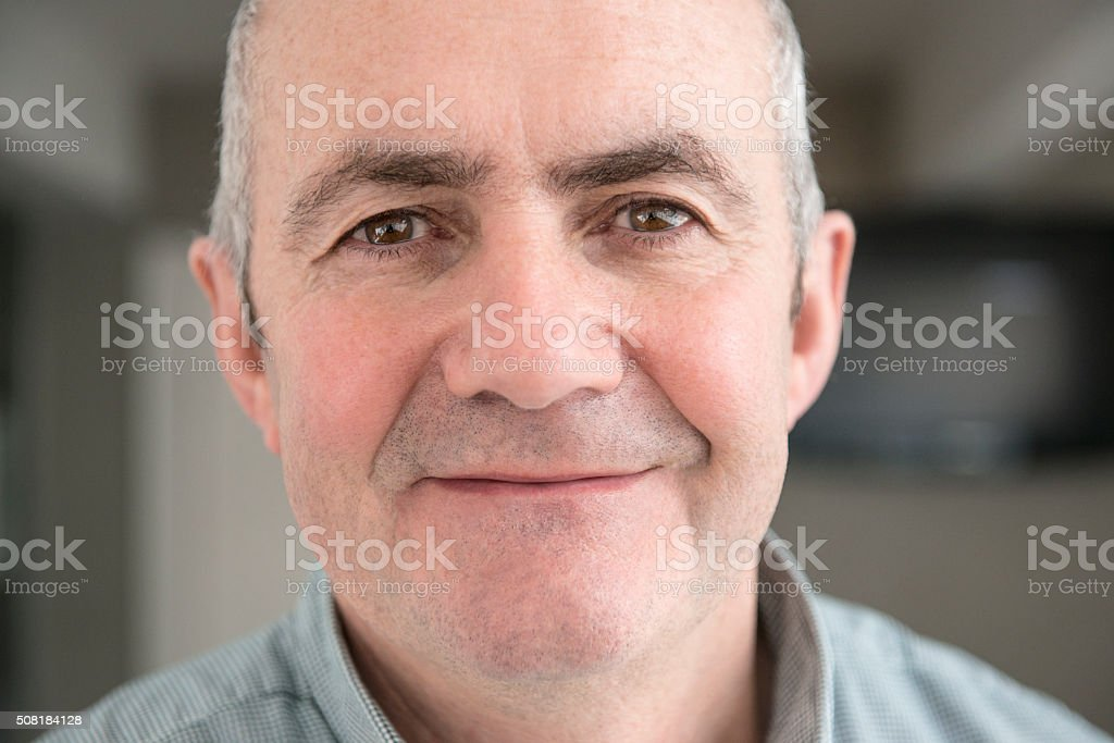 Handsome middle aged man stock photo