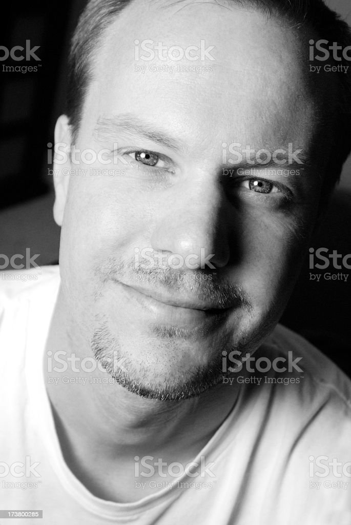 Handsome Middle Aged Man with a Trusting Smile royalty-free stock photo