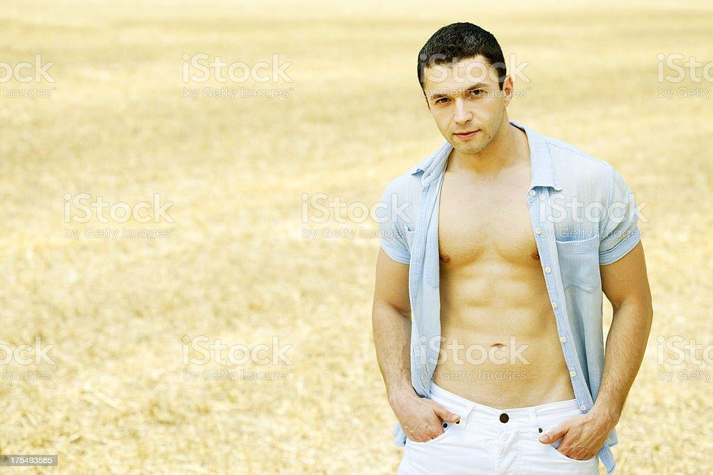 handsome model stock photo