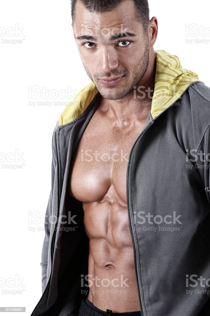 Handsome muscular guy royalty-free stock photo