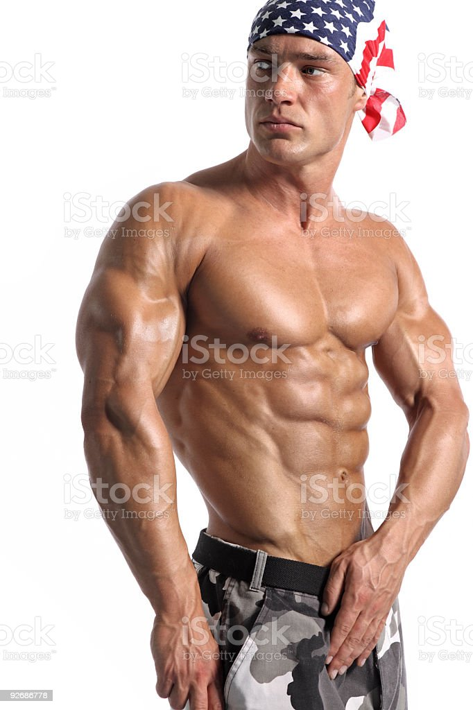Handsome muscular man portrait royalty-free stock photo
