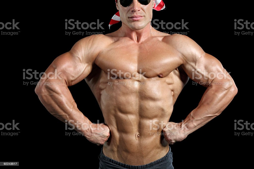 Handsome muscular man posing royalty-free stock photo