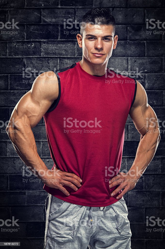 Handsome Muscular Men royalty-free stock photo