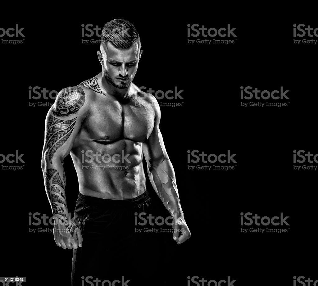 Handsome Muscular Men stock photo