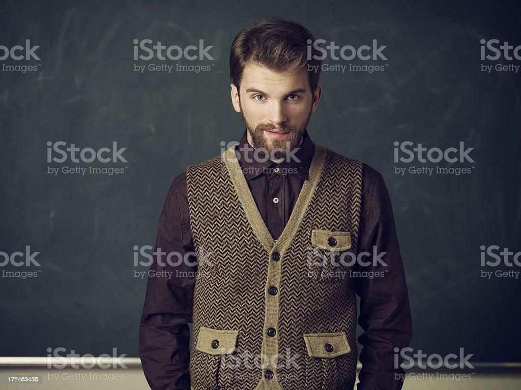 Handsome Nerd royalty-free stock photo