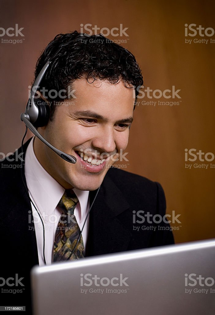 Handsome operator 1 royalty-free stock photo