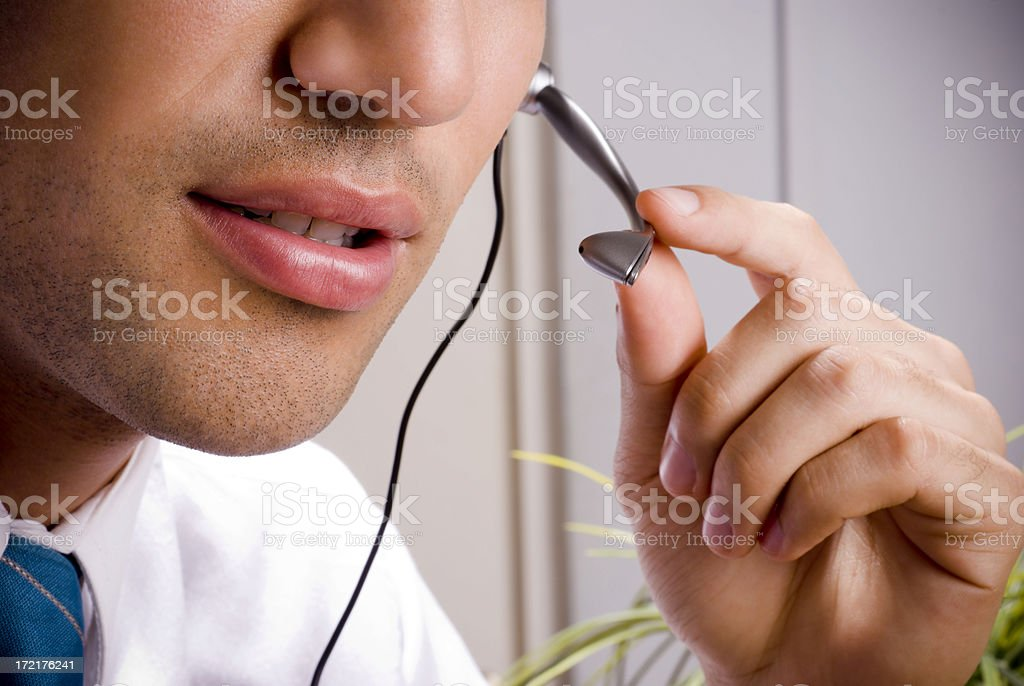 handsome operator royalty-free stock photo